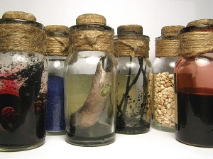 Witch Bottles used for spell casting